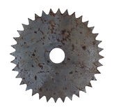 Rusty circular saw blade. Old rusty circular saw blade royalty free stock image