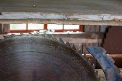 Rusty circular saw Royalty Free Stock Image