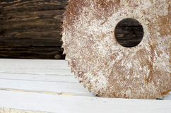Rusty circular saw Royalty Free Stock Images