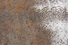 Rusty and clean surface royalty free stock image