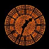 Rusty clock Stock Photography