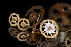 Rusty clock gears Royalty Free Stock Image