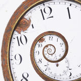 Rusty clock swirl. Close-up of a vintage Rusty clock swirl Stock Photos