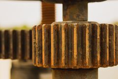 The rusty texture on gear surface royalty free stock image