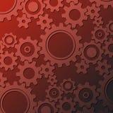 Rusty cogwheels background Stock Image