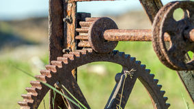 Rusty cogwheels Stock Images