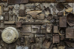 Rusty Collage of old tools Royalty Free Stock Photos