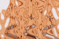 Rusty color opalescent stained glass natural stains.  royalty free illustration