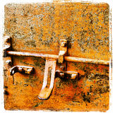 Rusty Colored Lock Royalty Free Stock Images
