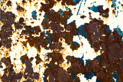Rusty Colored Metal with cracked paint, grunge background Stock Photography
