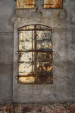 Rusty Commercial Door. Centered rusty outside door to no where located on old building in Cheyenne Royalty Free Stock Photos