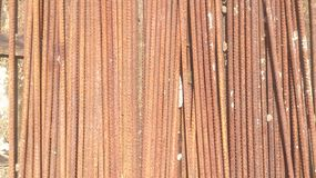Rusty Construction Metal Materials Stock Image