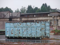 Rusty container outside  Royalty Free Stock Image
