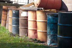 Rusty containers in a row Stock Photography