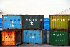 Rusty containers Royalty Free Stock Images