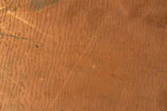 Rusty cooper. Part of rusty cooper plate closeup shot Royalty Free Stock Photography