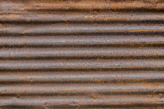 Rusty Corregated Sheet Metal Background-Beschaffenheit Stockfotografie