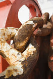 Rusty corroded anchor chain Royalty Free Stock Photo