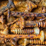 Rusty And Corroded Screws Royalty Free Stock Photography