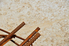 Rusty corroded stained metal wire fitting armature Stock Photo