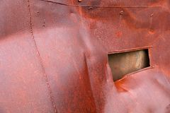 Rusted steel background Stock Photos