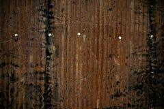 Rusty corrugated fence background Royalty Free Stock Photos