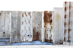 Rusty corrugated galvanized steel wall or iron metal sheet surfa royalty free stock photo