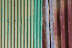 Rusty corrugated iron Royalty Free Stock Photos
