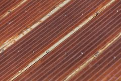 Rusty Corrugated Iron Royalty Free Stock Images