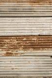 Rusty corrugated iron Stock Images