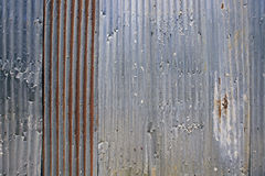 Rusty Corrugated Iron Fence Stock Afbeeldingen