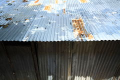 A rusty corrugated iron metal texture Royalty Free Stock Image