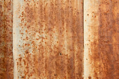 A rusty corrugated iron metal texture. Royalty Free Stock Photography