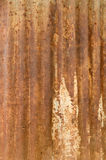 A rusty corrugated iron metal texture. Royalty Free Stock Photos