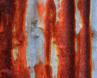 Rusty corrugated iron metal Royalty Free Stock Photo