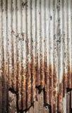 A rusty corrugated iron Stock Image