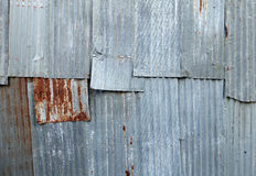 A rusty corrugated iron metal texture Royalty Free Stock Photos