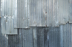 A rusty corrugated iron metal texture Royalty Free Stock Photography