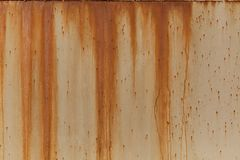 A rusty corrugated iron metal texture. Horizontal image Stock Images