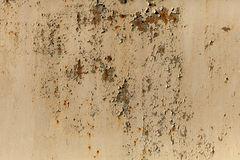 A rusty corrugated iron metal texture. Horizontal image Royalty Free Stock Images