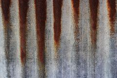 Rusty corrugated iron metal texture Royalty Free Stock Image