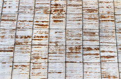 Rusty corrugated iron roof background Royalty Free Stock Photography