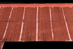 Rusty corrugated iron roof sheets Royalty Free Stock Photography