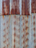 Rusty corrugated metal background Stock Photos