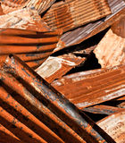 Rusty Corrugated Metal Heap Royalty Free Stock Photography