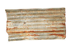 Rusty corrugated metal royalty free stock photography