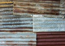 Rusty corrugated metal Royalty Free Stock Photo