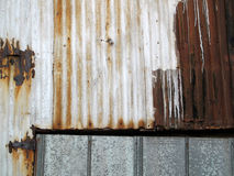 Rusty Corrugated Metal. Royalty Free Stock Image