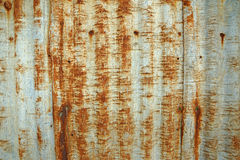 Rusty corrugated metal roof texture. For abstract background Stock Photography