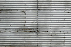 Rusty corrugated metal sheet royalty free stock photography